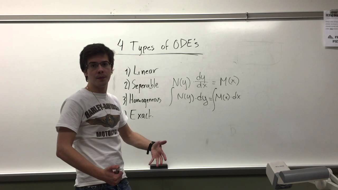 Download 4 Types of ODE's: How to Identify and Solve Them
