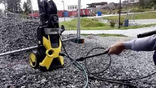 karcher k5 with pressure washer dirtblaster wont start or starts for a secound