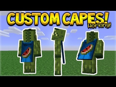 NEW HOW TO USE CUSTOM CAPES IN MCPE - Minecraft Pocket Edition