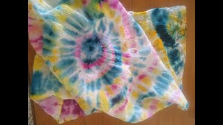 Tie and Dye your Scarf at Home - Wear Your Art | Easily Paint your Rainbow Stole - Fabric Painting