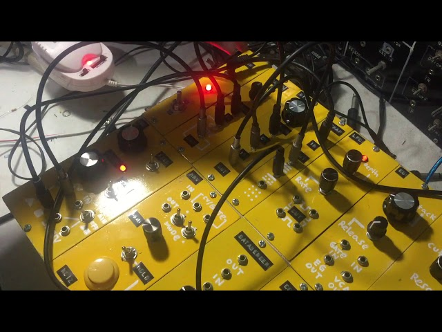 Harsh Noise System [modular synthesizer   Broken Records and Tape Rewinding sound]]