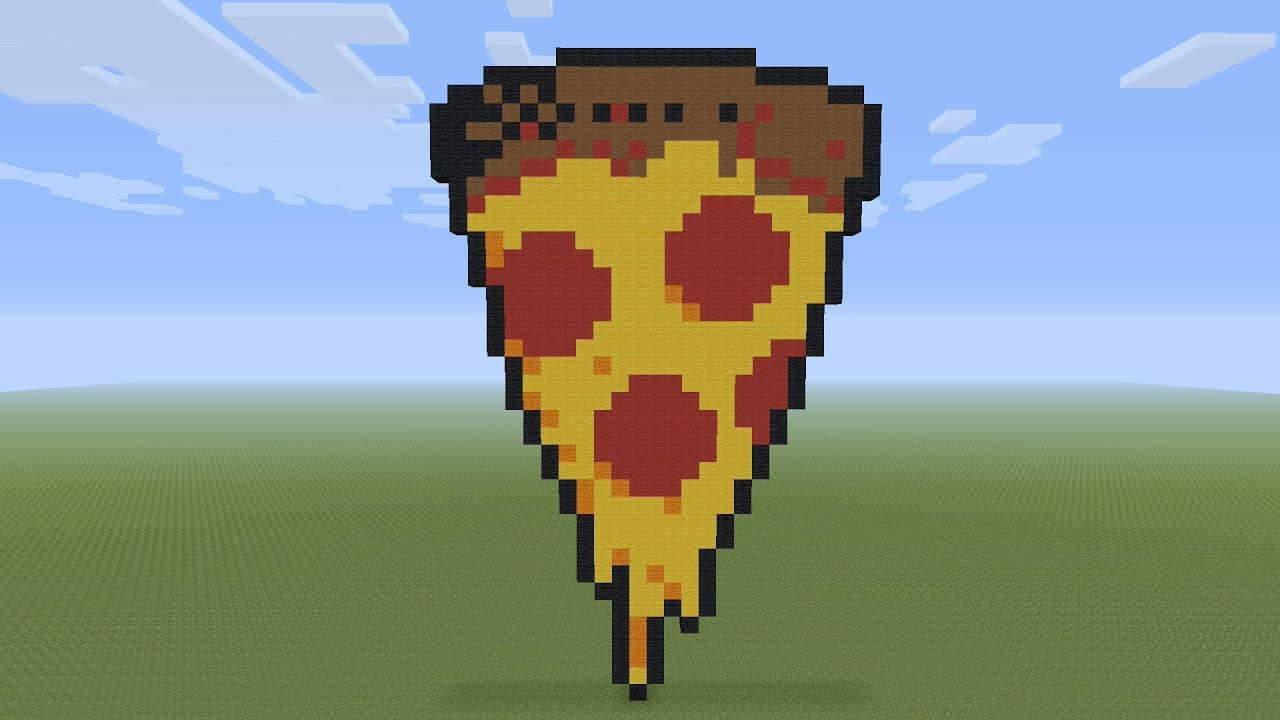 Minecraft Pixel Art Pizza Slice Youtube