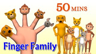 Animal Finger Family 2 - Finger Family Song - 3D Animation Nursery Rhymes & Songs for Children