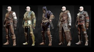 The Witcher 3 Blood and Wine - All Grandmaster Witcher Gear Sets Showcase (Looks & Stats)