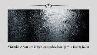 Vierzehn Arten den Regen zu beschreiben op. 70 /  Hanns Eisler