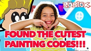 ROBLOX BLOXBURG PAINTING CODES - FOUND THE CUTEST ONES!!!