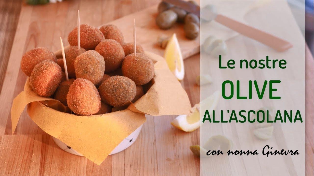Ricetta Olive Ascolane Youtube.Le Nostre Olive All Ascolana Video Speciale Con Nonna Ginevra Lorenzo In Cucina Youtube