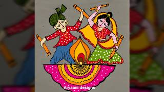 Very easy ..simple Navaratri special rangoli..9 to 5 straight dots..navaratri rangolies..dusshara ..