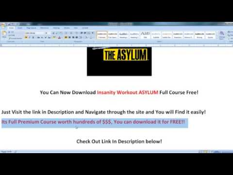 Download Insanity Workout ASYLUM 2012 Full Course Free!