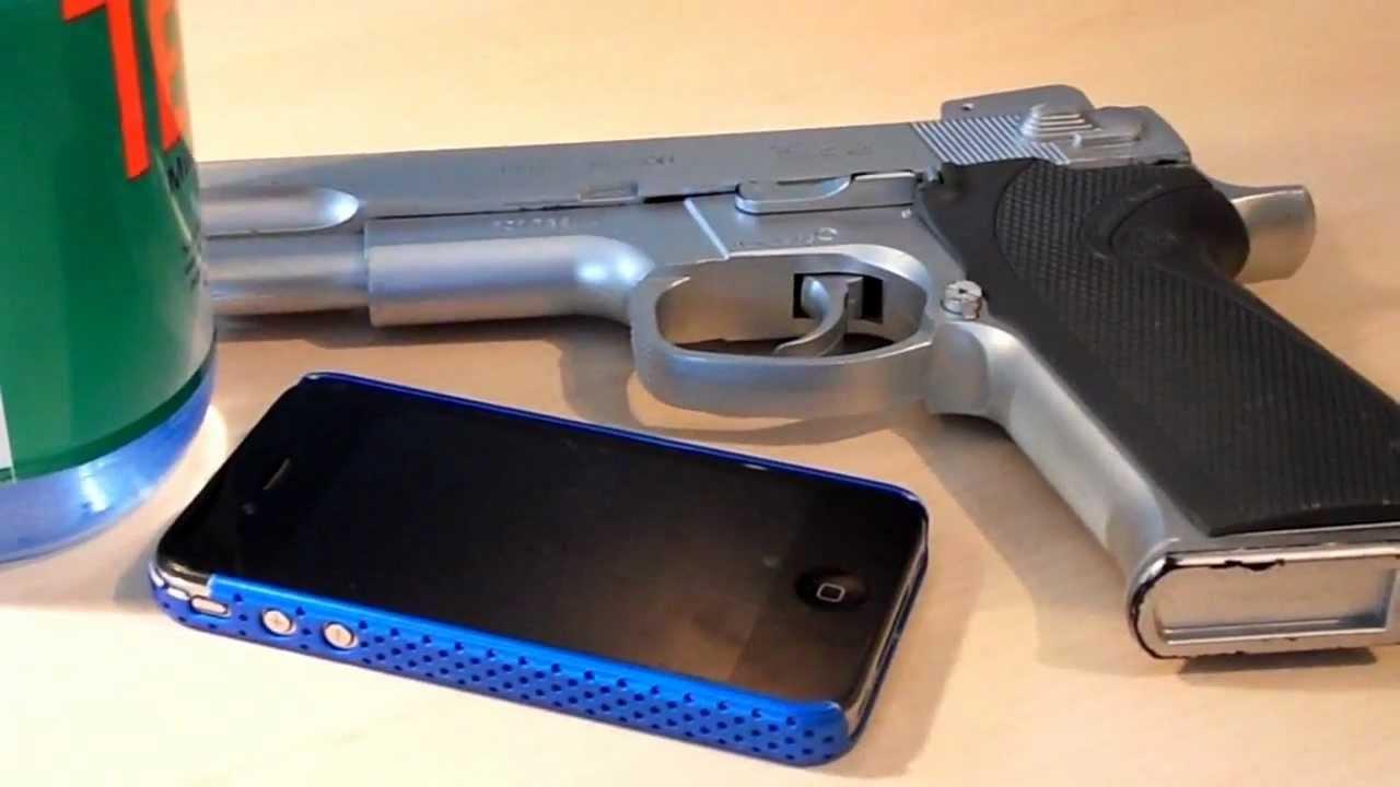 iphone vs airsoft gun