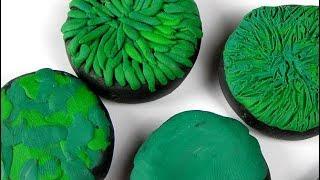 как сделать пластилин из травы