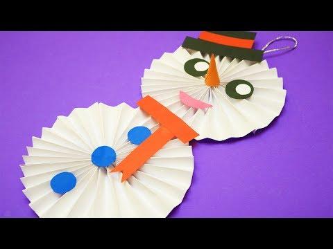 DIY Paper Snowman | Christmas Craft Ideas