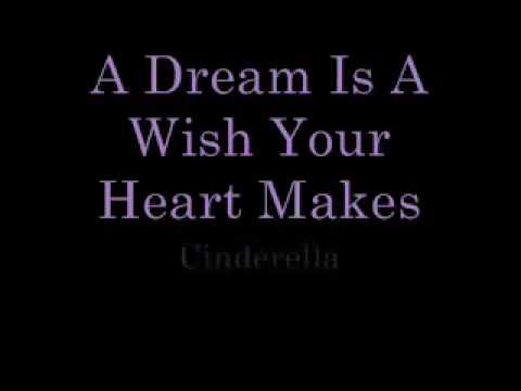 A Dream Is a Wish Your Heart Makes lyrics - YouTube A Dream Is A Wish Your Heart Makes Lyrics