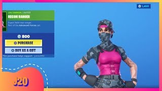 NEW FORTNITE ITEM SHOP TODAY AUGUST 16th NEW SKIN RECON RANGER CLOCKWORK ( FORTNITE BATTLE ROYALE )