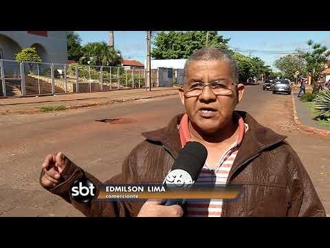 Ruas esburacadas do Moreninhas causa acidentes e revolta moradores