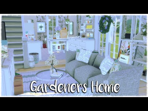 The Sims 4: Speed Build // GARDENERS HOUSE + STORE + CC Links