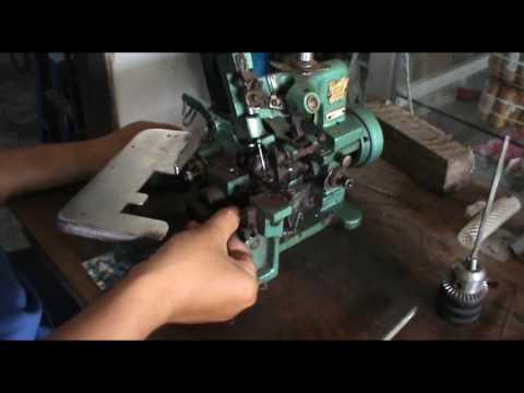 memperbaiki mesin obras masalah macet looper bengkok - YouTube