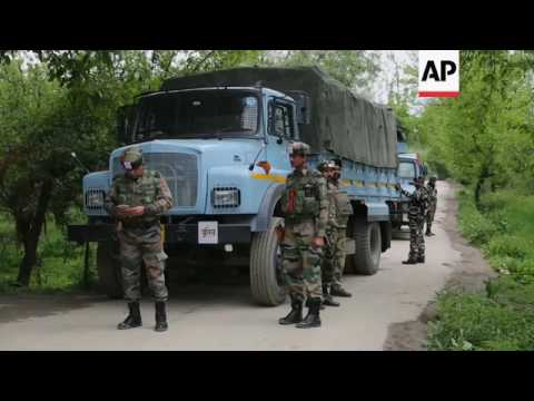 India cordons off Kashmir villages