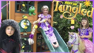 Disney Princess Rapunzel Funny Videos for Kids with Tangled Toys Best by Ava Isla Olivia