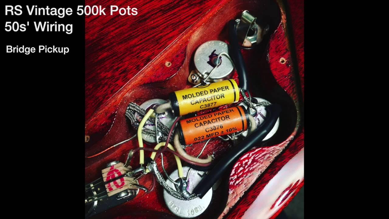 gibson modern wiring vs rs 50s wiring [ 1280 x 720 Pixel ]
