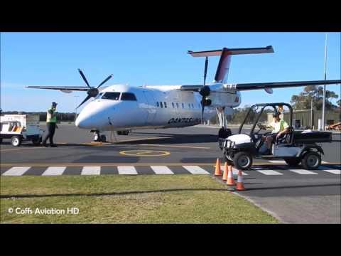 BABY QANTAS ● QantasLink Bombardier Dash 8 Q200 [VH-TQS] At Port Macquarie Airport