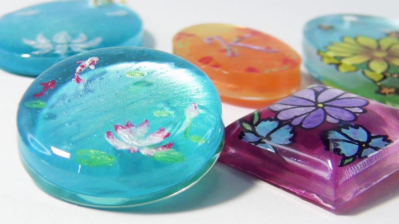 【UVレジン】Ohuhuのメタリックアクリル絵の具を封入!~ Includes Ohuhu metallic acrylic paint! -UVresin-