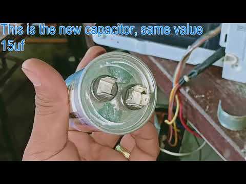 Aircon Repair Faulty Capacitor Trouble.. Panasonic 1hp