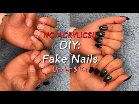 DIY: Fake Nails under FIVE MINUTES (no acrylics) under 10 bucks!