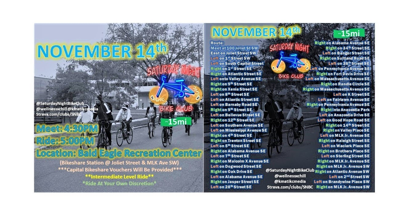 November 14th: Saturday Night Bike Club