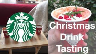 Starbucks Christmas Drinks in Korea Mukbang