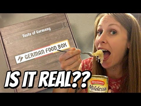 American Tries German Food Box