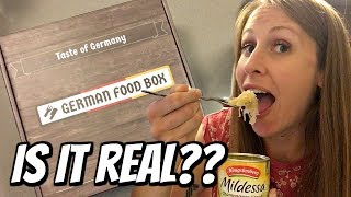 American Tries German Food Box