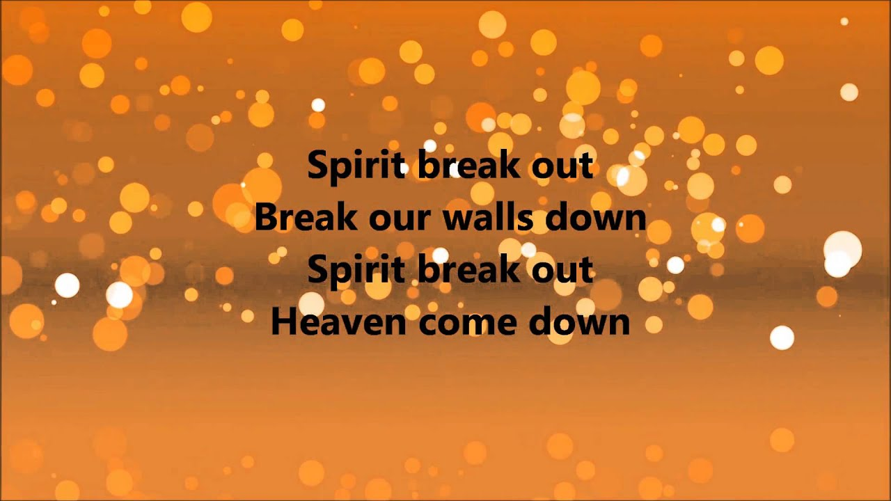 spirit break out lyrics pdf