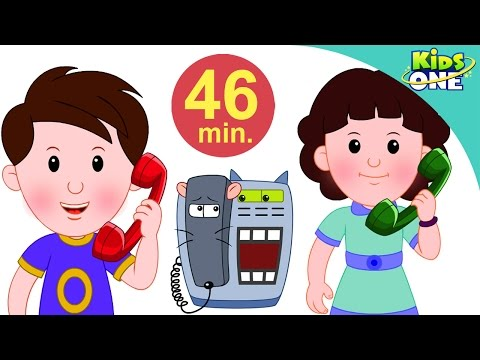 टेलीफोन | चुन्नू मुन्नू थे दो भाई | Telephone | Hindi Children Rhymes | 46 Min Compilation