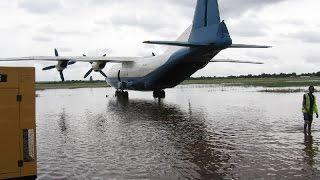 Гидроплан )) взлёт с воды АН-12 Kongo AN12 takeoff from water an-12