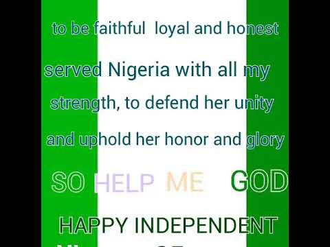 Nigeria national anthem and national pledge