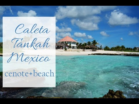 Caleta Tankah Tulum Mexico. Beach, cenote and the hotel. Best beach in Mexico.