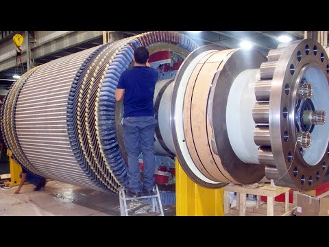 Amazing Technology Hydropower Plant And Largest Modern Generator Production Process
