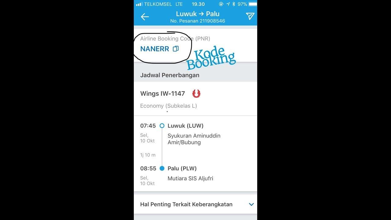 Cara Mengecek Kode Booking E Tiket Pesawat Di Traveloka Telah Terbit
