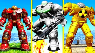 UPGRADING HULKBUSTER IRON MAN Into A GOD In GTA 5 Mods ... (Secret Powers!)