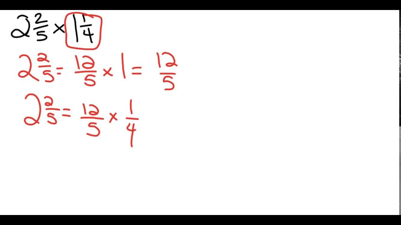 Worksheet Multiply Mix Fractions decomposing method multiplying mixed numbers youtube numbers