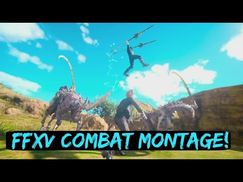 Final Fantasy XV Combat Montage, Link Attack, Parry Gameplay