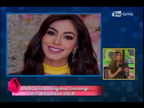 Nos visita Virginia Limongi Miss Ecuador 2018