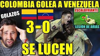 COLOMBIA GOLEA 3-0 a VENEZUELA con GOLES de ZAPATA y DOBLETE de MURIEL - LESIÓN GRAVE de ARIAS