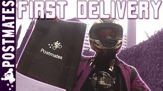 First Delivery for Postmates on Scooter (Delivery Service App)