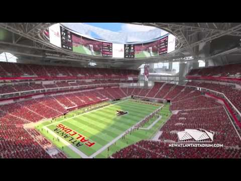 Fly Through  New Atlanta Stadium