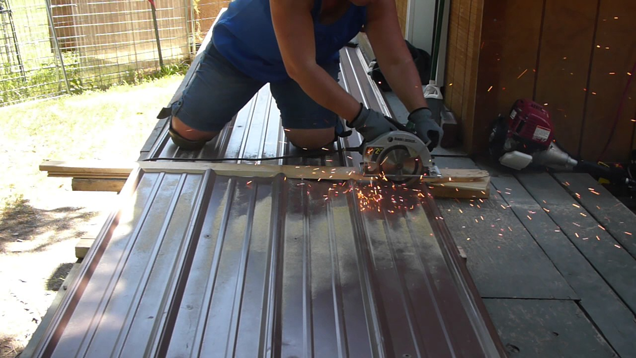 Cutting Metal Roofing With A Circular Saw