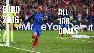 Euro 2016 All Goals: All 108 Goals Highlight lHD