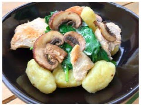 gnocchis-maison-poulet,-crème,-épinard