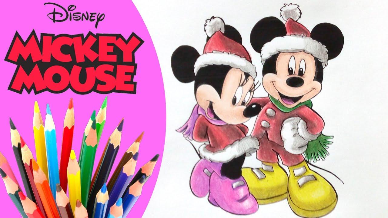 Navidad Se Acerca Como Colorear A Mickey Y Minnie Disney